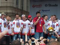 Vladimir Ruzicka and Czech ice hockey team 2010