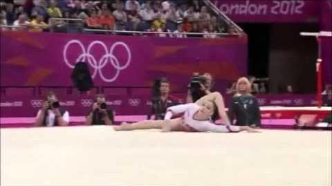 Aliya Mustafina RUS EF FX 2012 London Olympic Games