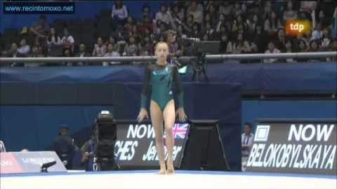 Yulia Belokobylskaya FX TF Tokyo World Championships 2011