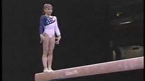 Dominique Moceanu - 1996 Olympics Team Optionals - Balance Beam