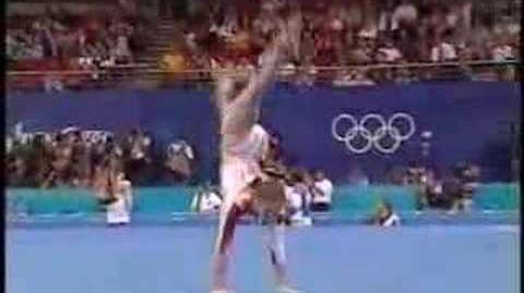 Andreea Raducan - 2000 Olympics AA - Floor Exercise