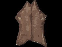 Cured deer hide