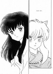 Inuyasha and kagome face in chapter 176