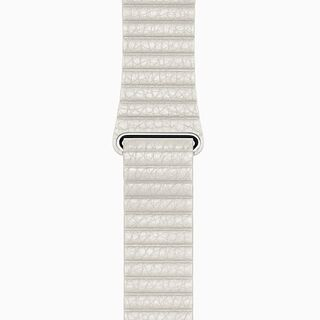 White Leather Loop Band