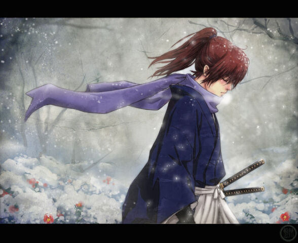File:640x522 6988 Rurouni Kenshin 2d fan art snow sword anime samurai manga katana guy picture image digital art.jpg