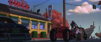 Dean picking up the tractor