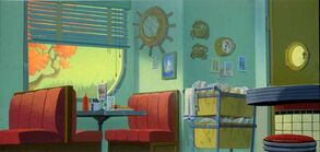 Chat and Chew Diner Background Painting