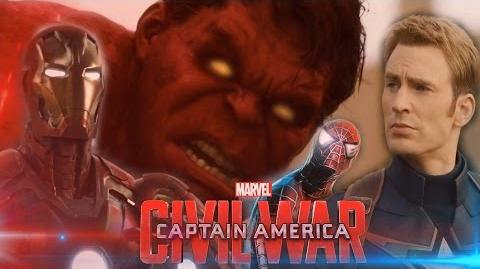 Captain America Civil War Trailer - Spider-Man, Red Hulk (FanMade)
