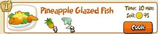 Pineapple glazed fish