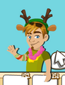 Ollie with Antlers