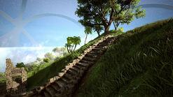 Cloudy peak stairs