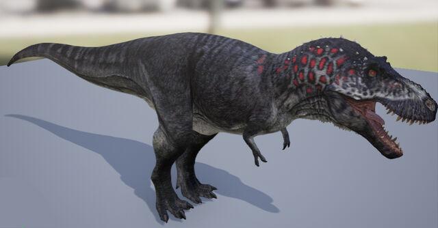 File:The Stomping Land Tyrannosaurus Default Skin The Isle.jpg