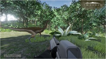 Mercenary Hunting Gallimimus Prototype Art The Isle