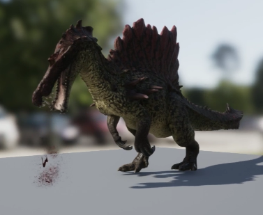 File:Hyperendocrin Spinosaurus 3D Model Eating The Isle.png