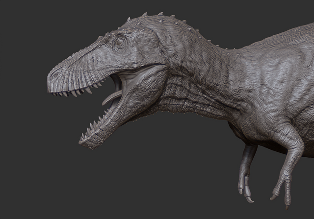 File:Juvenile TSL Tyrannosaurus Model 1 The Isle.png