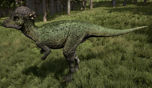 File:Green Pachycephalosaurus The Isle.png