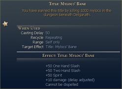 Mylocs bane