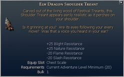 Elm Dragon Shoulder Treant
