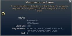 Medallion of the Storms (Jewelry)