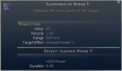 Allowance of Power
