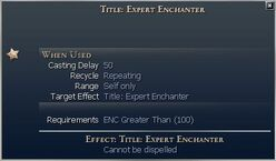 Title Expert Enchanter