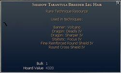 Shadow Tarantula Breeder Leg Hair