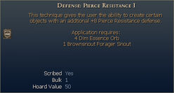 Defense Pierce Resistance I