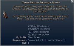 Cedar Dragon Shoulder Treant