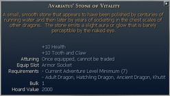 Avariatus' Stone of Vitality
