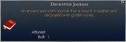 Decrypted Journal
