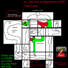 Ys - The Ark of Napishtim (PSP) Cave Lake