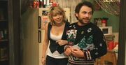 Charlie Day with wife