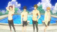 Four pretty swimmers