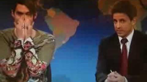 Saturday Night Live Stefon St Patricks Day Messing up Laughing