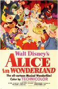 Alice In Wonderland Poster 1951