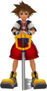 Sora and his Keyblade from Kingdom Hearts Re Chain of Memories