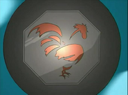 Rooster talisman in eye S3 EP6