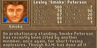 """Lesley """"Smoke"""" Peterson"""