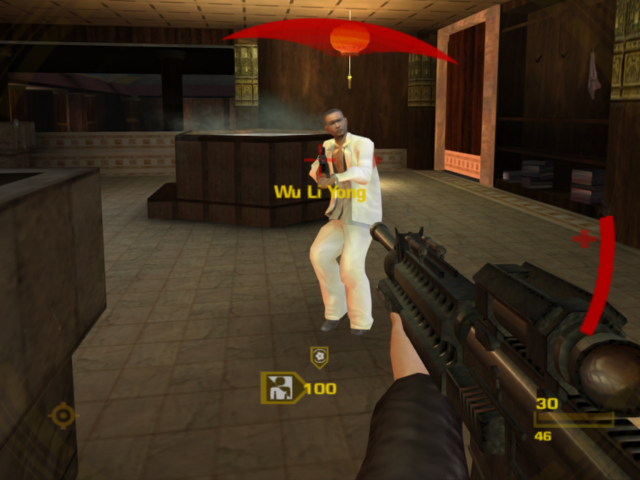 File:GoldenEye confronts the Triad traitor (GoldenEye - Rogue Agent).png