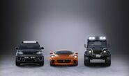 Jaguar C-X75, the Range Rover Sport SVR and Defender Big Foot