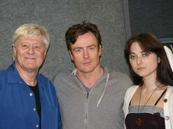 Toby Stephens with director Martin Jarvis (FRWL radio drama)