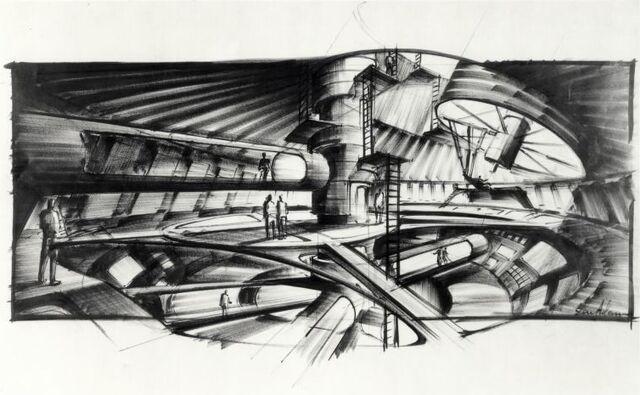 File:Ken Adam - Moonraker Station.jpg