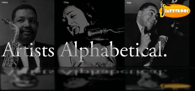 Header Artists Alphabetical