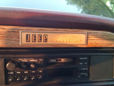 1991 Jeep Grand Wagoneer Final Edition Badge
