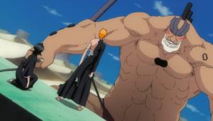 Yammy approaches Ichigo Rukia
