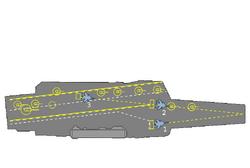 USSR CV Diagram of Russian aircraft carrier Admiral Kuznetsov