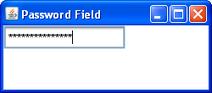 Swing password field