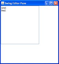 Editor pane
