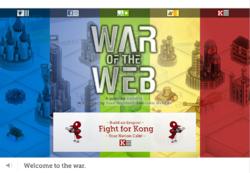War of the Web - Kong Title Screen
