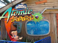 Nickelodeon Universe Jimmy Neutron's Atomic Collider entrance